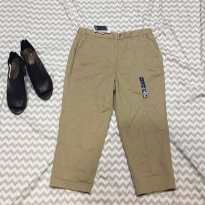 NWT Land's End Chino Crops